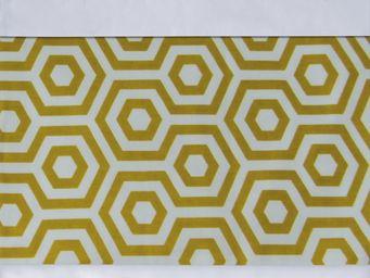 BAILET - ornement graphique - symphonie - 260x37 cm - jaune - Parure De Lit