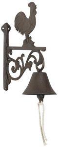 Aubry-Gaspard - cloche ancienne coq en fonte - Cloche D'ext�rieur