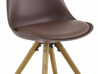 ID'CLIK - chaise design cross (lot de 2) taupe - Chaise