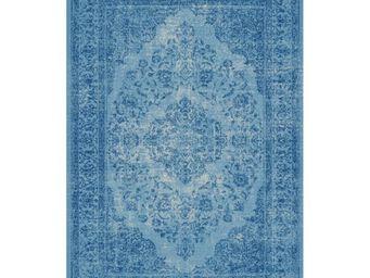 WHITE LABEL - tapis azur 180 x 120 cm - oriental - l 180 x l 120 - Tapis Contemporain