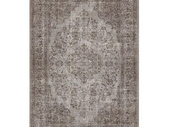 WHITE LABEL - tapis cendre 340 x 240 cm - oriental - l 340 x l 2 - Tapis Contemporain
