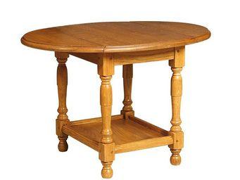 WHITE LABEL - petite table pliable en chêne - berichon - l 69 x  - Table D'appoint