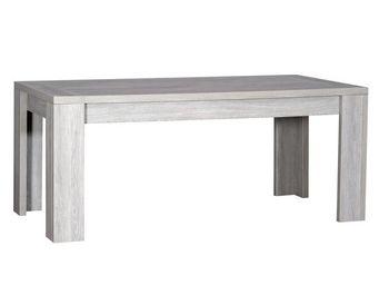 TOUSMESMEUBLES - table de repas gris clair - tahiti - l 180 / 260 x - Table De Repas Rectangulaire