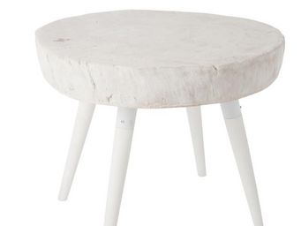 WHITE LABEL - table basse - woody - l 60 x l 60 x h 50 - bois - Table Basse Ronde