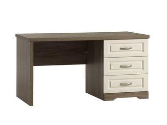 WHITE LABEL - bureau 3 tiroirs - tiva - l 140 x l 68 x h 73 - bo - Bureau