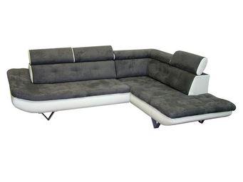 WHITE LABEL - canapé d\'angle blanc/bris - caio - l 260 x l 215 - Canapé Modulable
