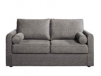 Home Spirit - canapé fixe piccolo 3 places tissu tweed gris - Canapé 3 Places