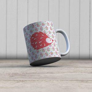 la Magie dans l'Image - mug grand herisson rouge - Mug