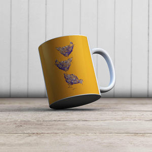 la Magie dans l'Image - mug poules orange - Mug