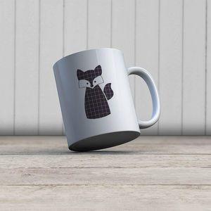 la Magie dans l'Image - mug renard noir - Mug