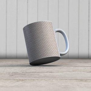 la Magie dans l'Image - mug trèfle beige blanc - Mug