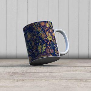la Magie dans l'Image - mug végétal bleu - Mug