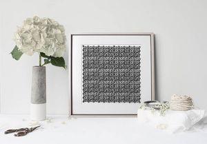 la Magie dans l'Image - print art anis blanc noir - Estampe