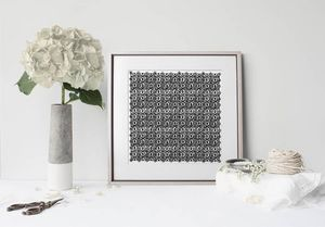 la Magie dans l'Image - print art anis blanc noir - Tableau Décoratif