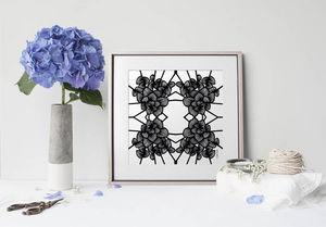 la Magie dans l'Image - print art graphic flowers white - Tableau Décoratif