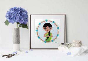 la Magie dans l'Image - print art héros indienne - Tableau Décoratif