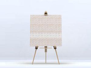 la Magie dans l'Image - toile anis beige blanc - Impression Numérique Sur Toile