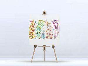 la Magie dans l'Image - toile feuilles - Impression Numérique Sur Toile