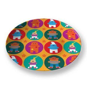 la Magie dans l'Image - assiette héros pattern orange - Assiette De Présentation