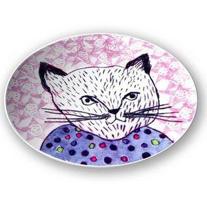 la Magie dans l'Image - assiette mon petit chat fond rose - Assiette De Présentation