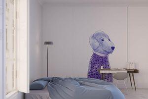 la Magie dans l'Image - grande fresque murale mon petit chien - Papier Peint Panoramique