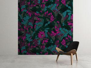 la Magie dans l'Image - grande fresque murale tropical flowers forêt - Papier Peint Panoramique