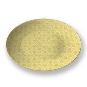 la Magie dans l'Image - assiette trèfle jaune foncé - Assiette De Présentation