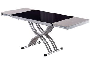 WHITE LABEL - table basse newform relevable extensible, plateau  - Table Basse Relevable