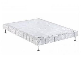Bultex - bultex sommier tapissier confort médium 3 zones l - Sommier Fixe À Ressorts