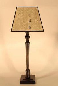 Abat-jour - rectangulaire vintage - Lampe À Poser