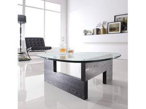 WHITE LABEL - table basse viva - transparent - Table Basse Forme Originale