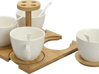 Amadeus - rack 4 tasses à café + cuillères - Tasse À Café