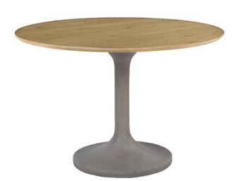 ZAGO - table à manger béton et chêne iris - Table De Repas Ronde