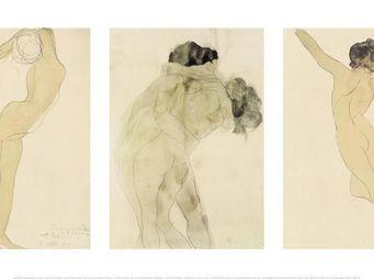 Nouvelles Images - affiche personnage qui danse - le baiser - femme d - Affiche
