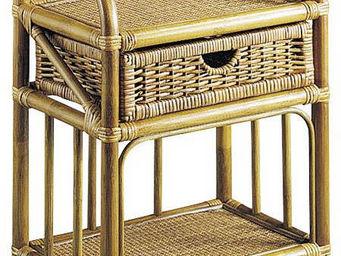 Aubry-Gaspard - table de chevet en rotin - Table De Chevet