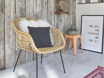 BOIS DESSUS BOIS DESSOUS - chaise en rotin et métal - Fauteuil