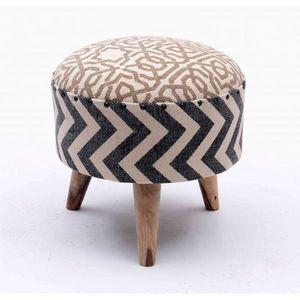 Mathi Design - pouf kilim boheme - Tabouret