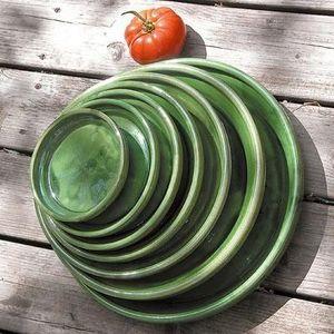 Les Poteries D'albi - soucoupe verte - Dessous De Pot De Jardin
