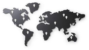 Umbra - carte du monde magnétique mappit - Affiche