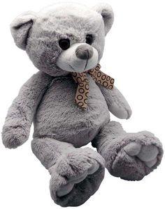 Aubry-Gaspard - peluche ours en acrylique gris 30 cm - Peluche