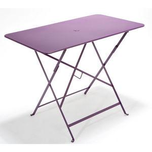 Table pliante rectangulaire couleur Piment L77xl57xh74Table ...