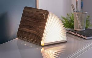Gingko - mini smart booklight - lampe cuir noir 12.5 cm - Lampe À Poser