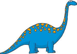 DECOLOOPIO - dino bleu - Sticker Décor Adhésif Enfant