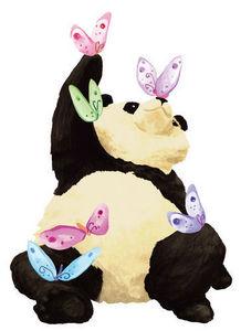 DECOLOOPIO - panda - Sticker Décor Adhésif Enfant