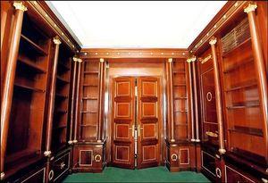 ACI Antiquit�s - biblioth�que en acajou de cuba - Biblioth�que
