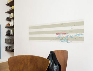 Walldesign - map tombouctou - Papier Peint