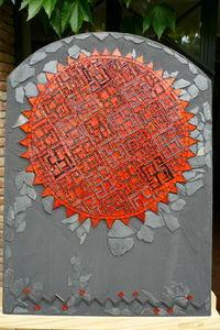 CORINNE SEMPERE  MOSAÏQUES - labyrinthe ardent - Tableau Contemporain