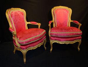 Philippe Vichot - paire de fauteuils en cabriolet d?�poque - Fauteuil Cabriolet