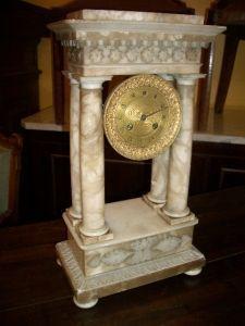 Antiquités Anne & Thierry - pendule napoléon iii - Pendule Portique