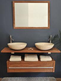 Meuble Salle De Bain Avec Vasque Pose Saniclass Natural Wood Meuble